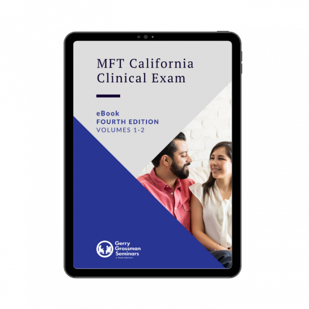 MFT California Clinical Exam Textbooks