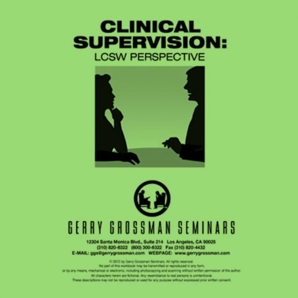 Clinical Supervision: LCSW Perspective Online Text-based Home Course (6 CE)