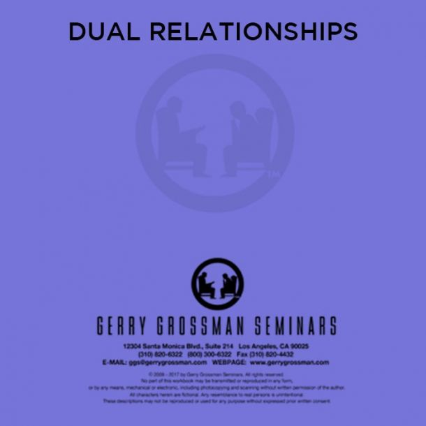 Dual Relationships Online Text-based Home Course (1 CE)