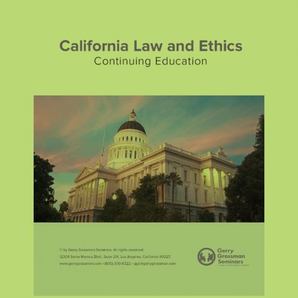 Law and Ethics 2021 Online Text-based Home Course (6 CE)