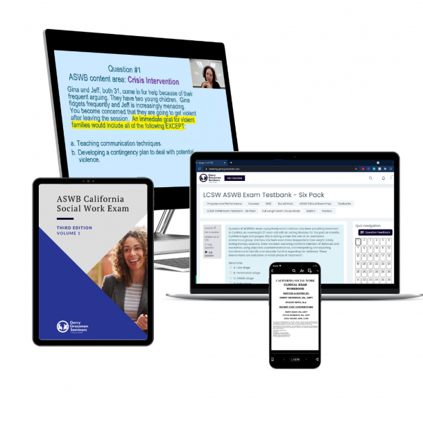 LCSW ASWB Clinical Exam Prep Course and Live Online Workshop
