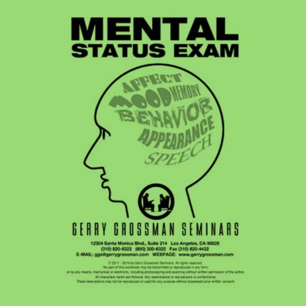 Mental Status Exam Online Text-based Home Course (1 CE)