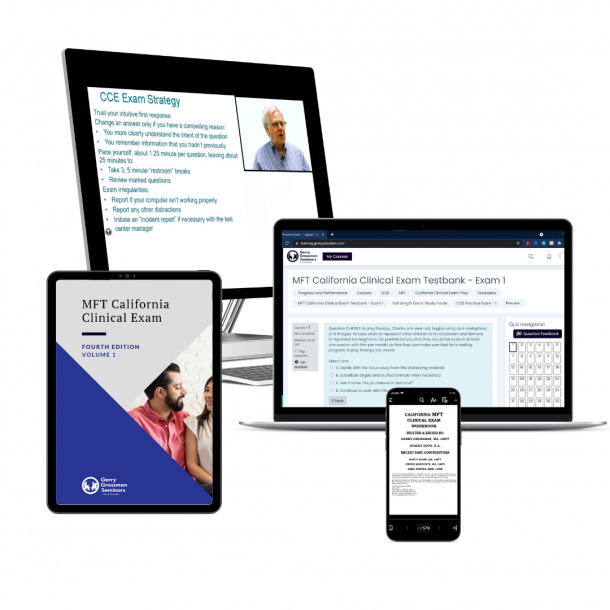 MFT California Clinical Exam Prep Course and Live Online Workshop