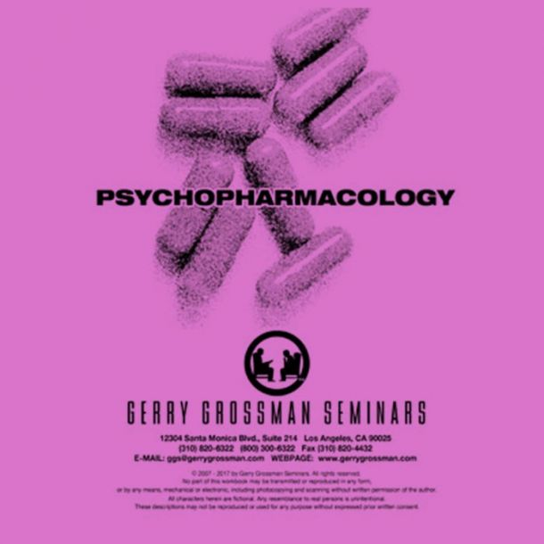 Psychopharmacology Online Text-based Home Course (2 CE)