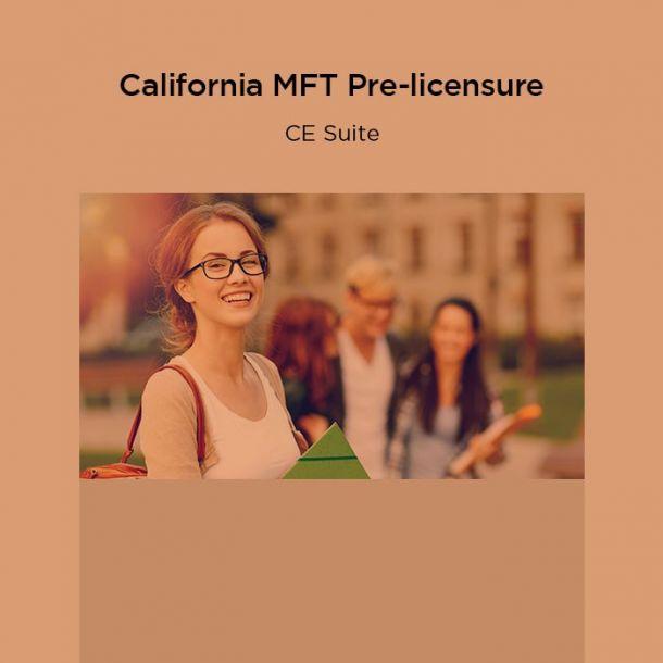 27-Hour California MFT Pre-licensure CE Suite Online Text-based Course (27 CE)
