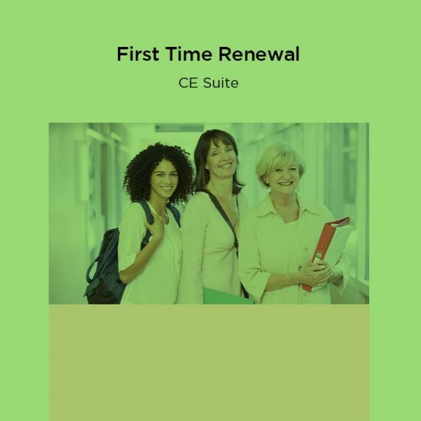 23-Hour First Time Renewal CE Suite Online Text-based Course (23 CE)