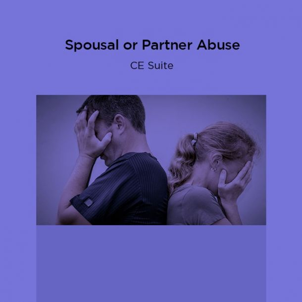 15-Hour Spousal or Partner Abuse CE Suite Online Text-based Course (15 CE)