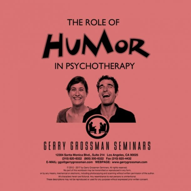 The Role of Humor in Psychotherapy Online Text-based Home Course (3 CE)
